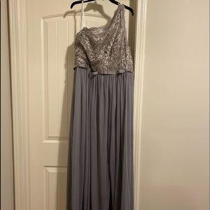 David's Bridal Gray Bridesmaid Dress/Wedding